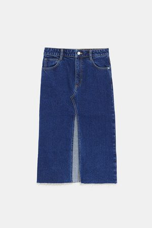 Zara Farkkuhameet - DENIM SKIRT WITH VENT