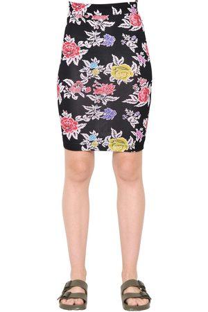House of Holland Naiset Printtihameet - Rose Printed Viscose Jersey Pencil Skirt