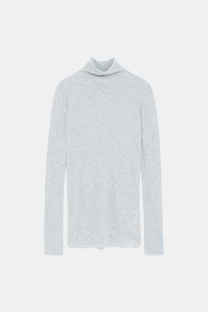 Zara BASIC TURTLENECK T-SHIRT