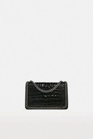 Zara CROSSBODY BAG WITH EMBOSSED CHAIN