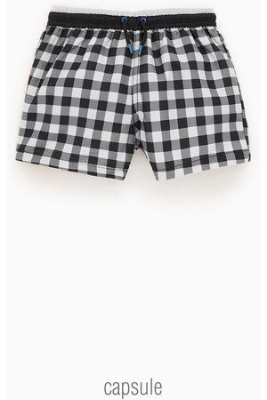 Zara GINGHAM CHECK BERMUDA SHORTS