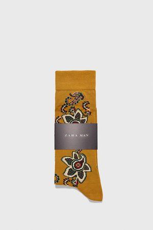 Zara Paisley mercerised socks