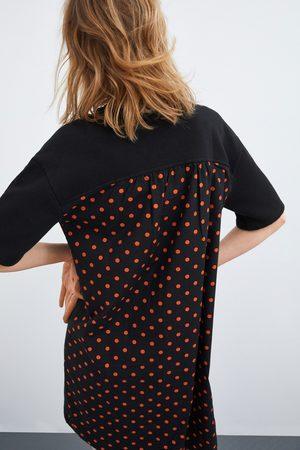 Zara Dress with contrast polka dots