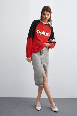Zara Slogan sweatshirt