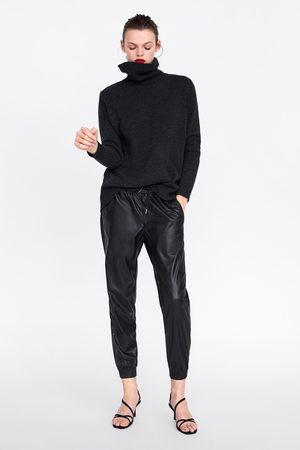 Zara Trousers zw premium jogger faux leather