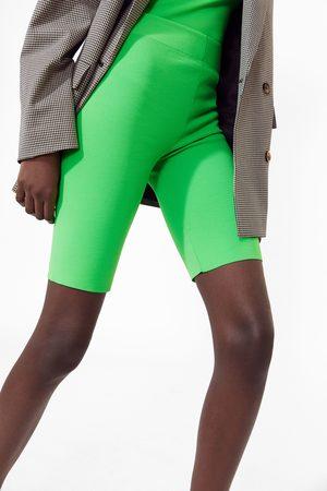 Zara Neon cycling bermuda shorts