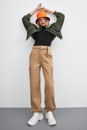 Zara Wide-leg cargo trousers