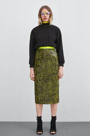 Zara Sequinned pencil skirt