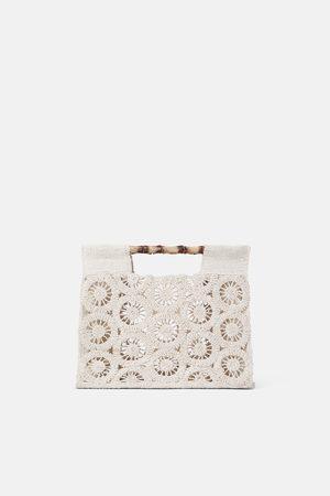 Zara Tote bag with bamboo handles