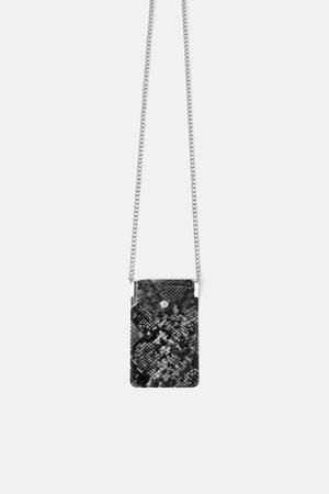 Zara Animal print vinyl crossbody mobile phone bag