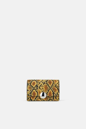 Zara Snakeskin print crossbody bag