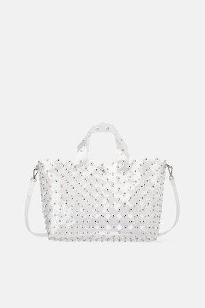 Zara Studded die-cut tote bag