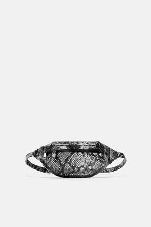 Zara Animal print vinyl crossbody belt bag