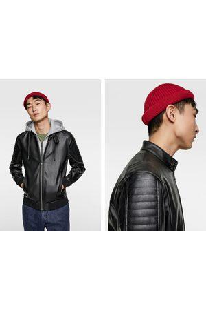 Zara Contrasting faux leather jacket