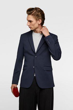 Zara Comfort knit textured blazer