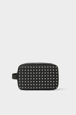 Zara Studded toiletry bag