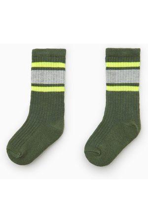 Zara Striped neon socks