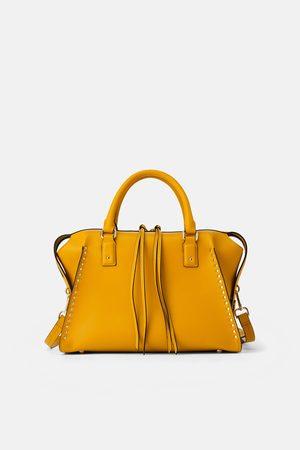 Zara Studded bowling bag