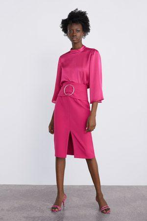 Zara Pencil skirt with buckle