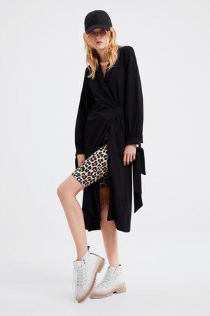 Zara Animal print cycling shorts