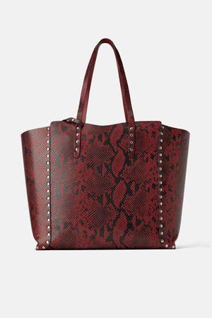 Zara Reversible studded tote bag