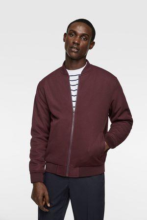 Zara Quilted piqué bomber jacket