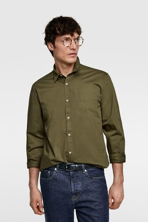 Zara Textured weave twill shirt