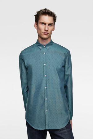 Zara Polka dot print oxford shirt