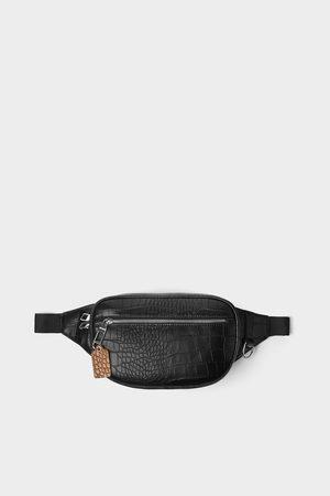 Zara Embossed mock croc belt bag