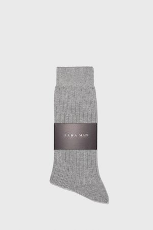 Zara Ribbed mercerised socks