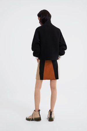 Zara Faux suede mini skirt