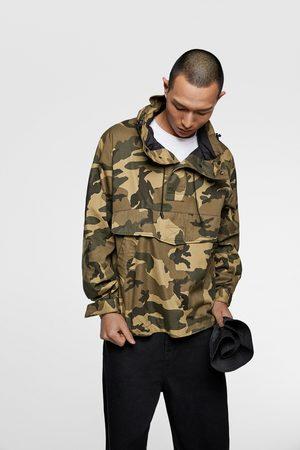 Zara Camouflage jacket with pouch pocket