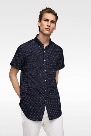 Zara Polka dot oxford shirt