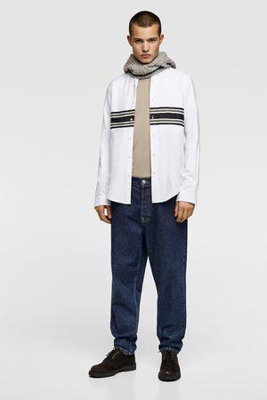 Zara Panelled oxford shirt