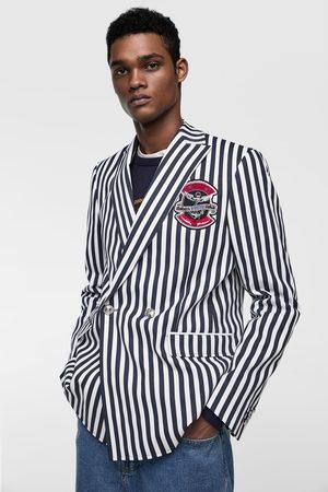 Zara Striped suit blazer