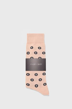 Zara Floral jacquard mercerised cotton socks