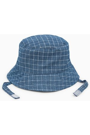 Zara Check hat with chin straps