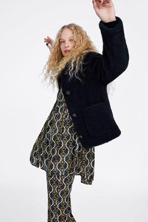 Zara FAUX-SHEARLING-TEXTURED JACKET
