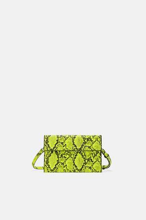 Zara Neon animal print crossbody bag
