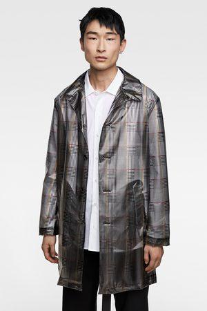 Zara Miehet Anorakit - Check print trench coat