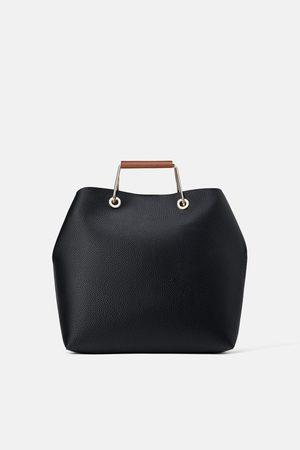 Zara Tote bag with metal handles