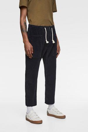 Zara Corduroy jogger waist trousers
