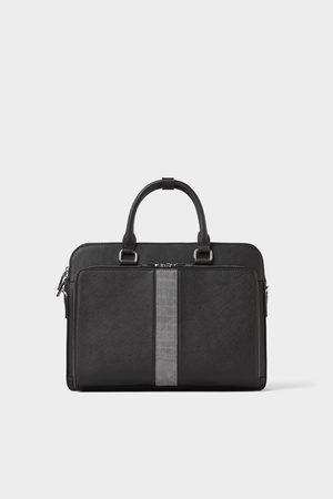Zara Briefcase with embossed mock croc trim