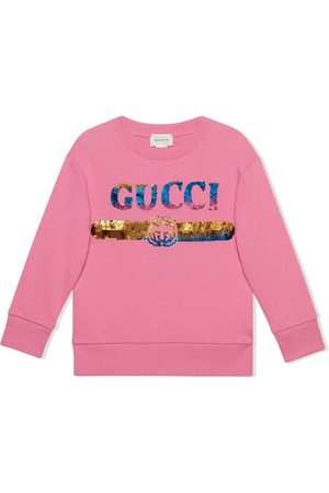 Gucci Pojat Hupparit - Children's sweatshirt with sequin Gucci logo