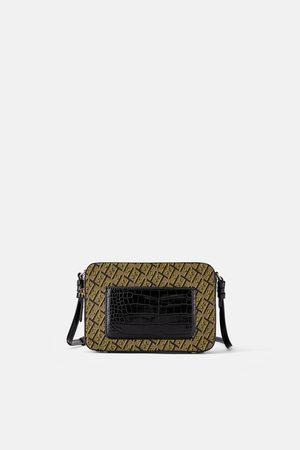 Zara Animal print logo crossbody bag