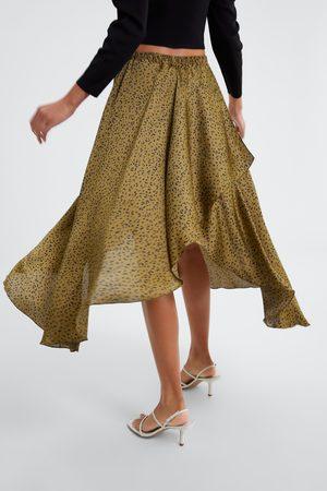 Zara Naiset Printtihameet - Animal print skirt