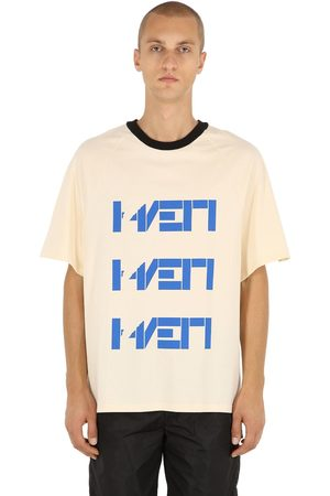 HAERVAERK Triple Print Cotton Jersey T-shirt