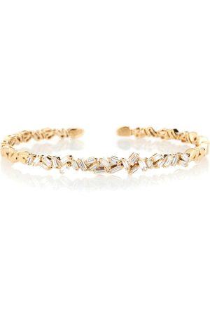 Suzanne Kalan Fireworks 18kt gold and diamond bangle