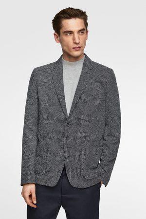 Zara Textured weave blazer