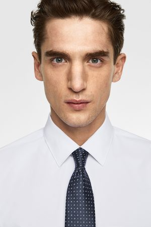 Zara Wide micro-patterned tie